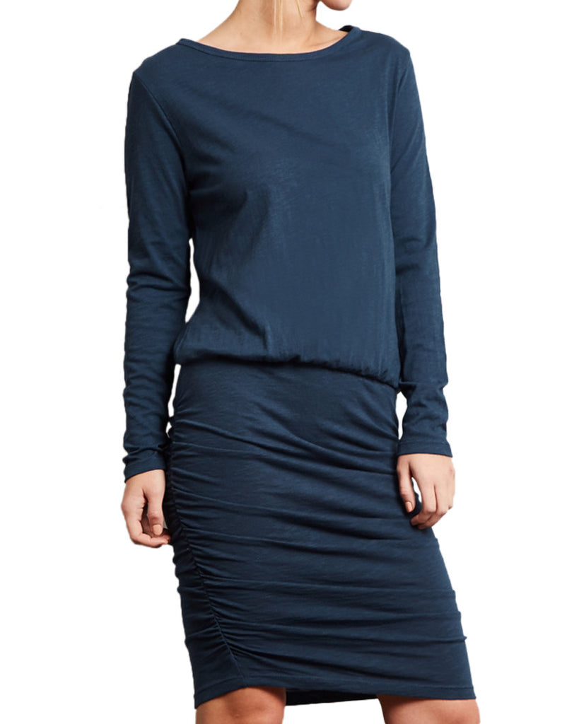 Long Sleeve Slub T-Shirt Dress