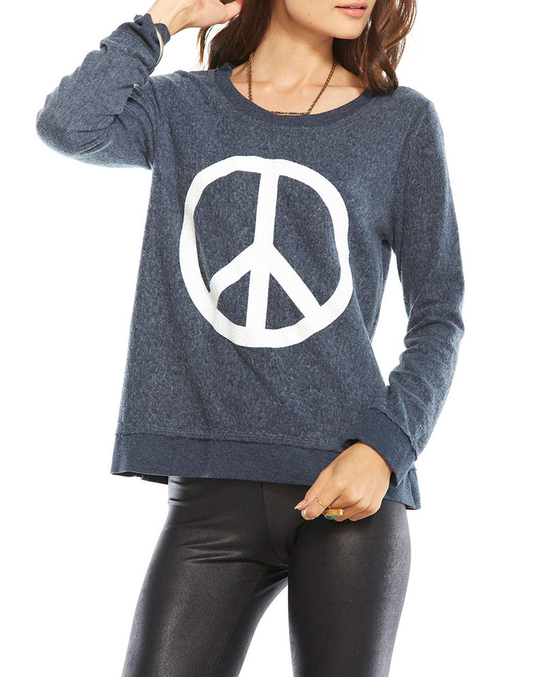 Chaser Peace Sign Pullover Sweatshirt
