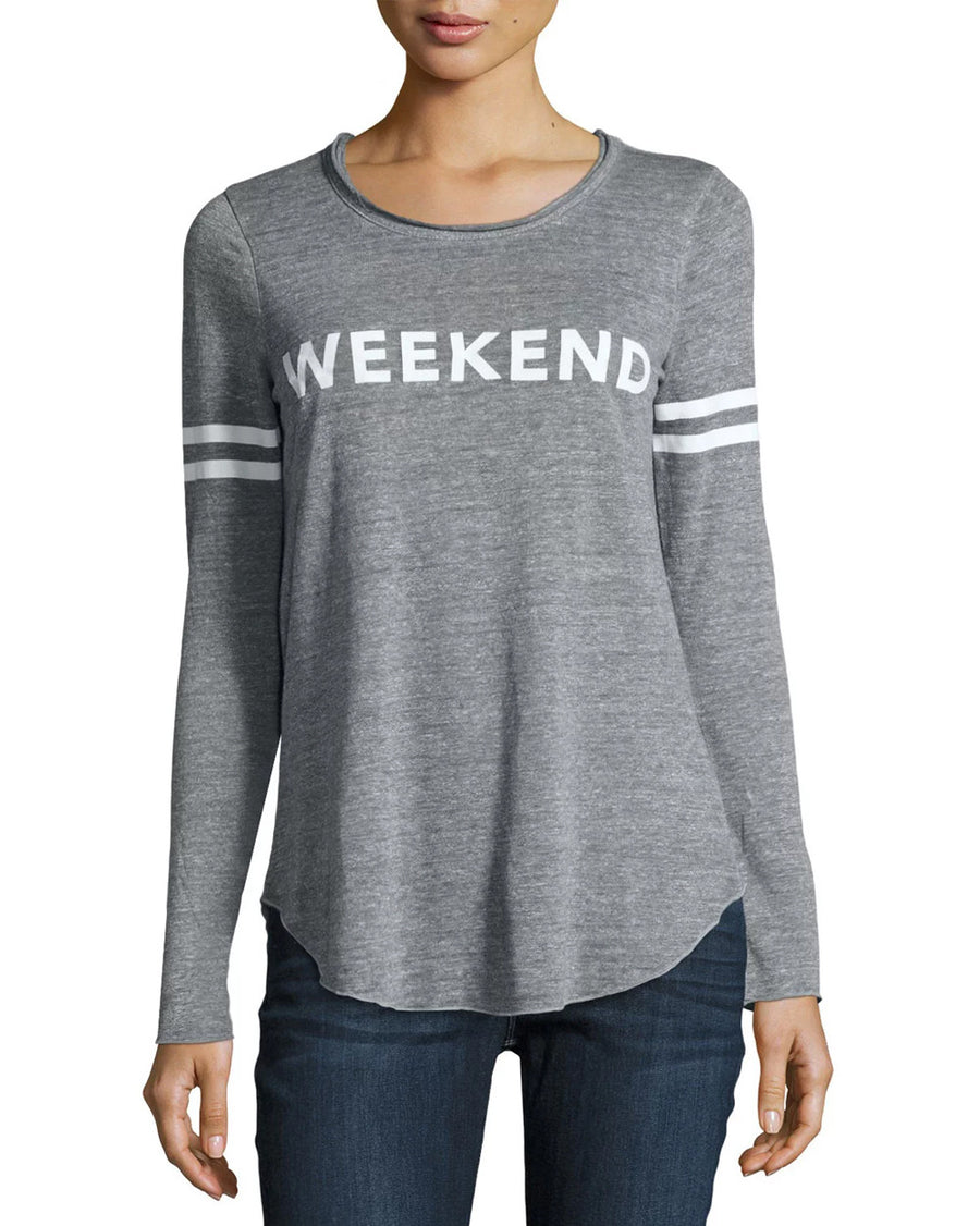 Weekend Varsity Stripe Long Sleeve Tee