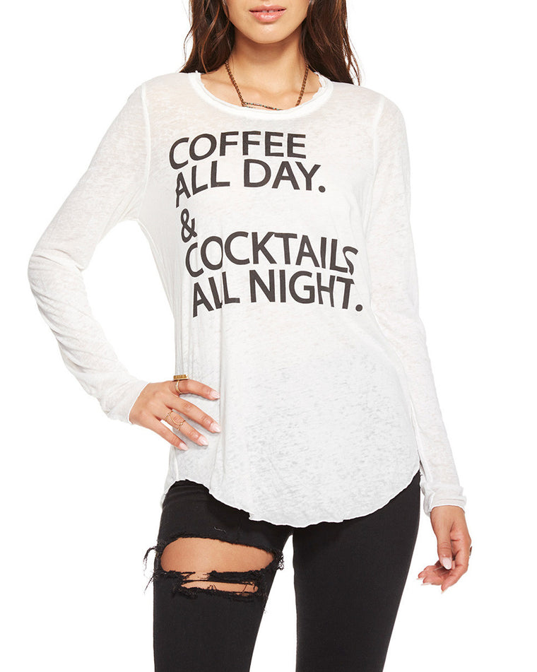 Coffee and Cocktails Long Sleeve Tee