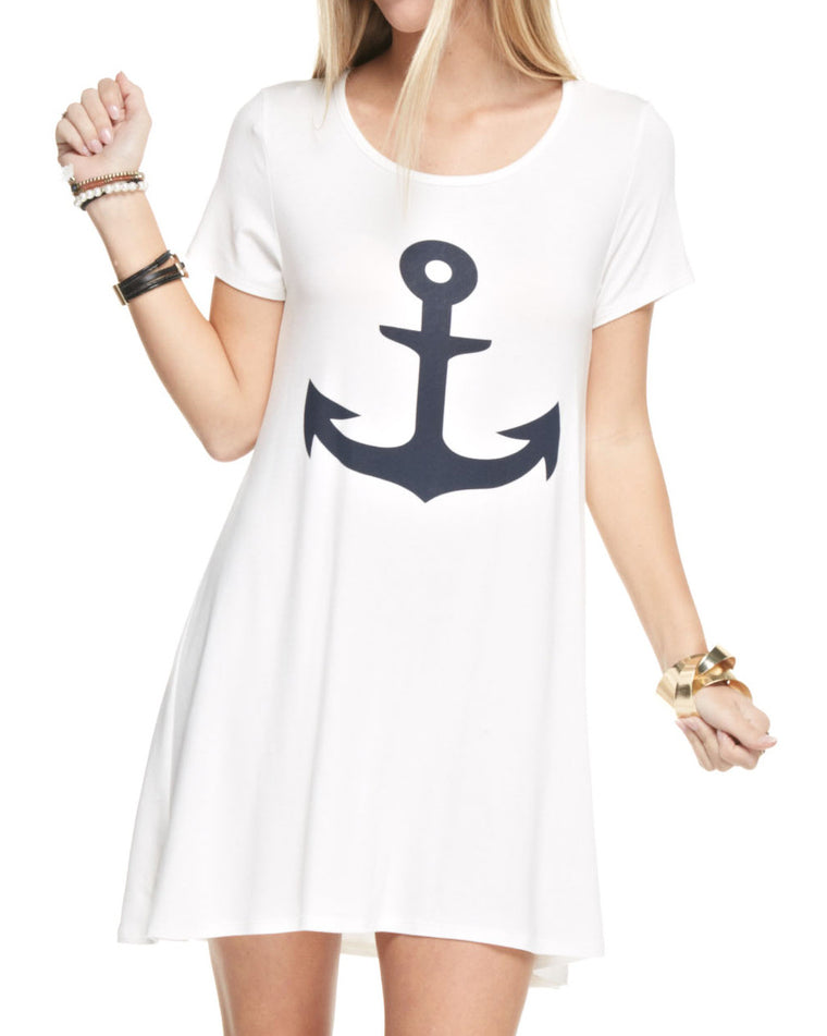 Anchor Short Sleeve T-Shirt Dress