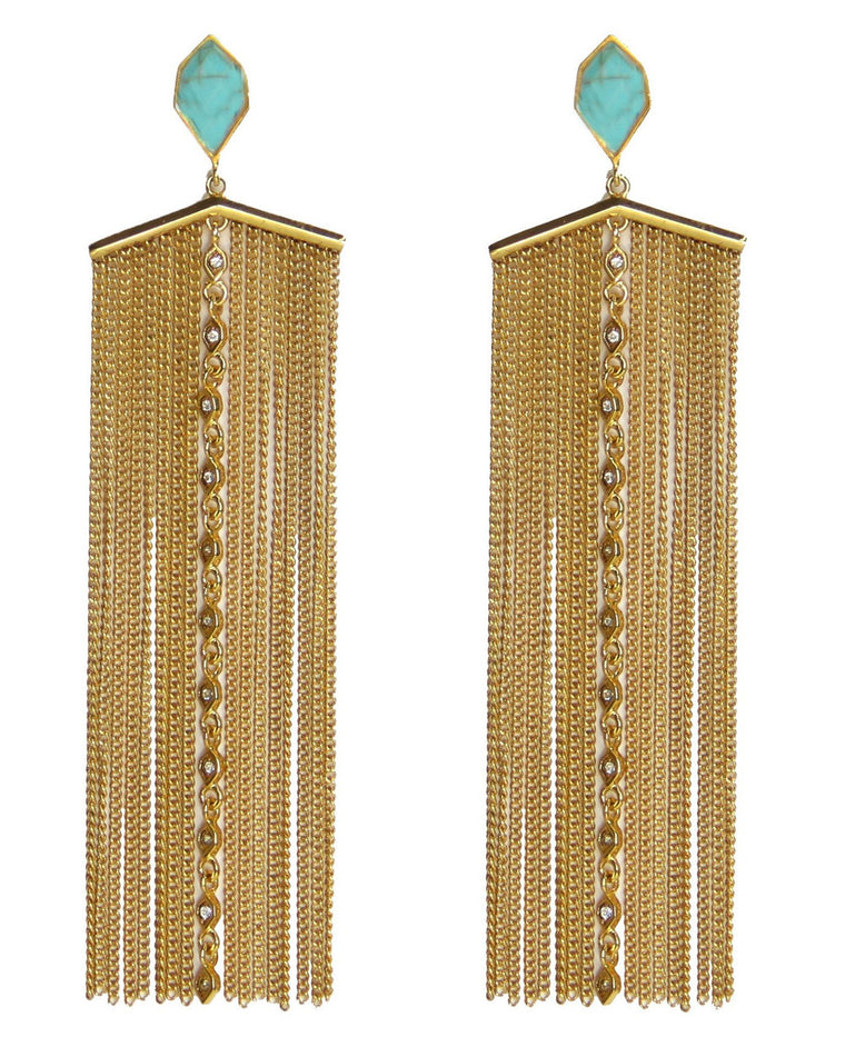 Desert Belle Chain Drop Earrings