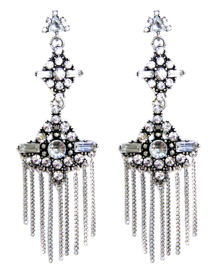 Center of Attention Drop Earrings