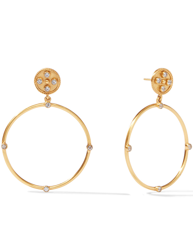 Paris Statement Hoop Earrings