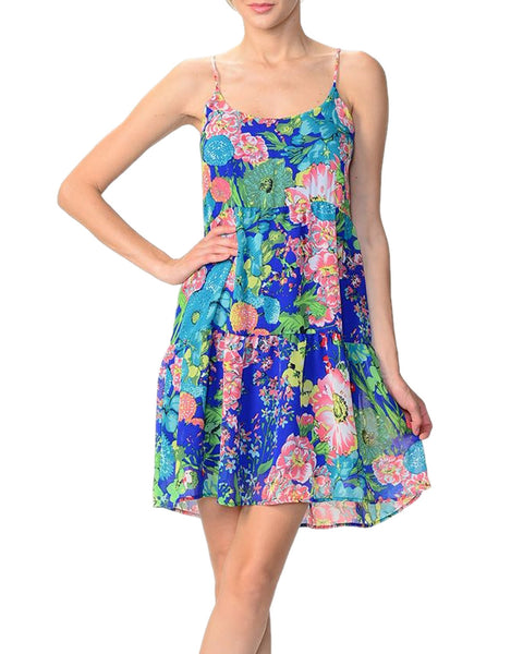 Bright Floral Halter Dress
