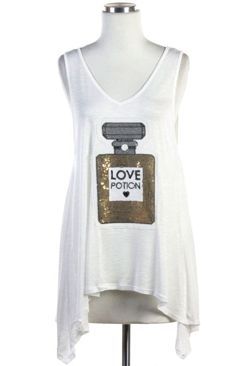 Love Potion Sequin Tank Top
