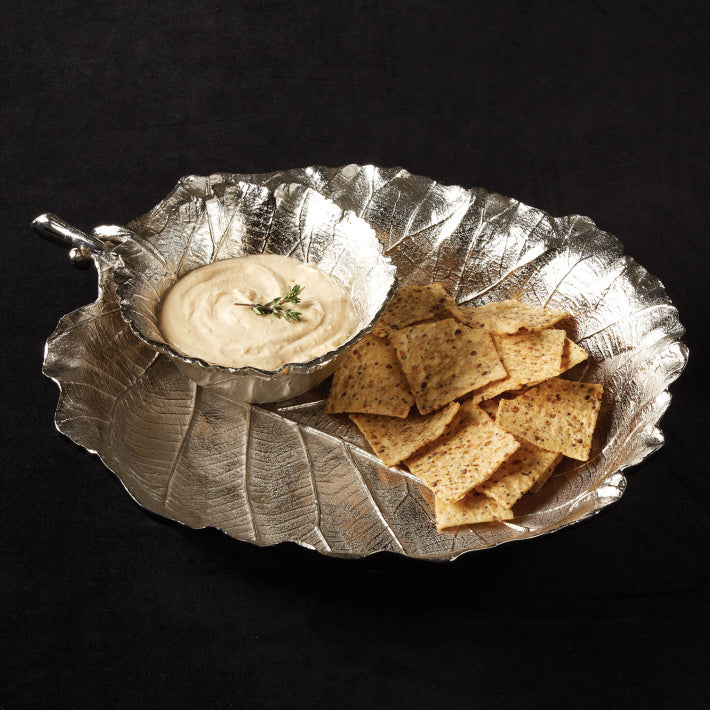 Grape Leaf Chip n' Dip Set
