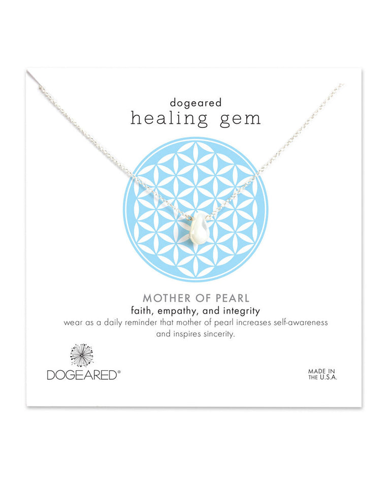 Healing Gem Mother of Pearl Necklace