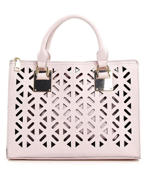 Blush Laser Cut Handbag