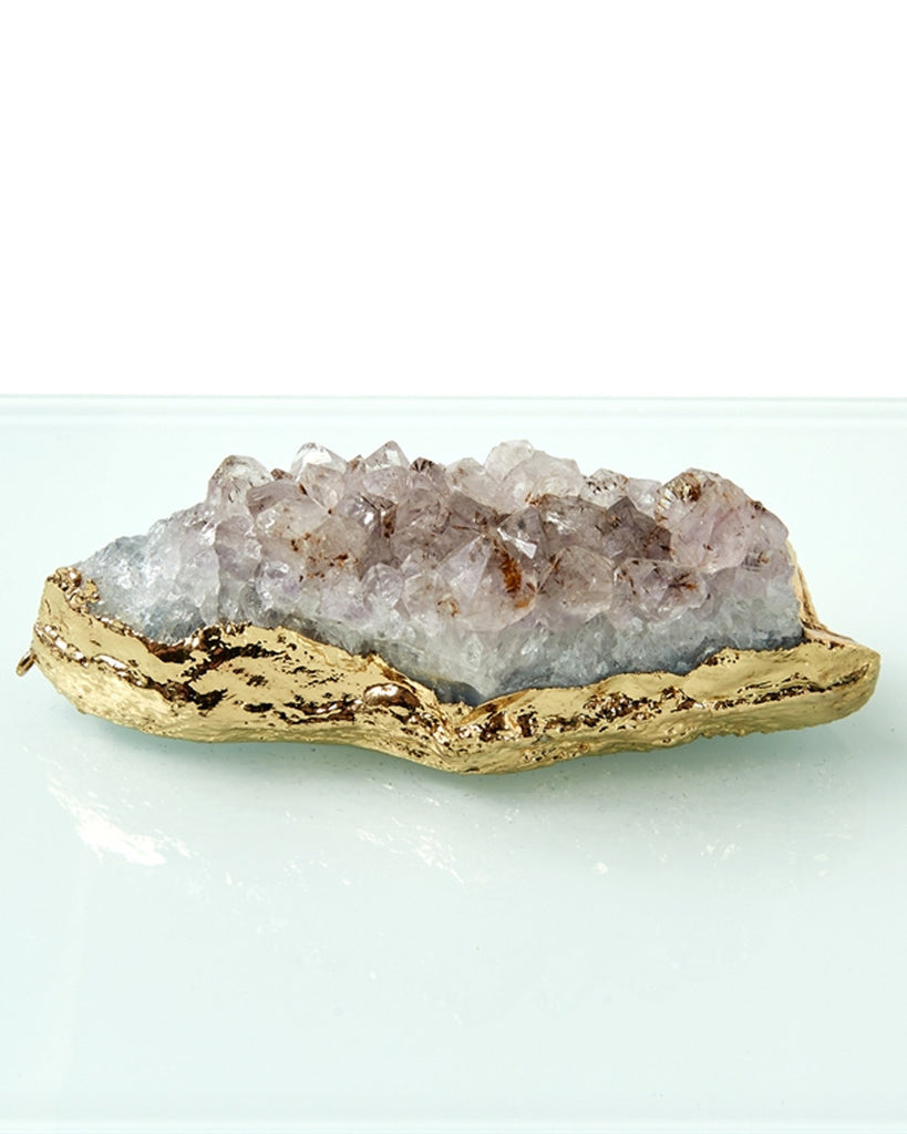 Amethyst Geode Hinged Glass Box Set