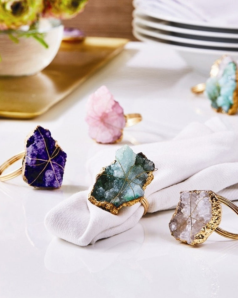 Geode Napkin Rings (Set of 4)
