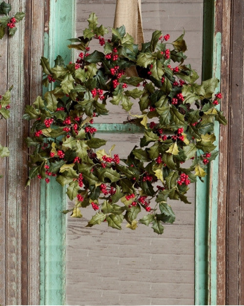 Vintage Holly Wreath