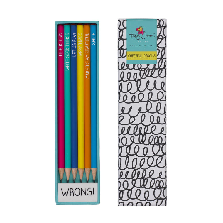 Cheerful Pencils and Eraser Set