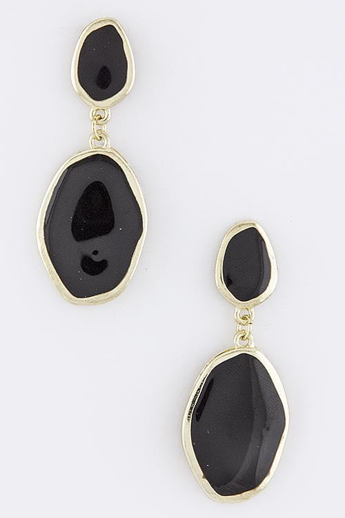 Linda Oval Drop Earrings