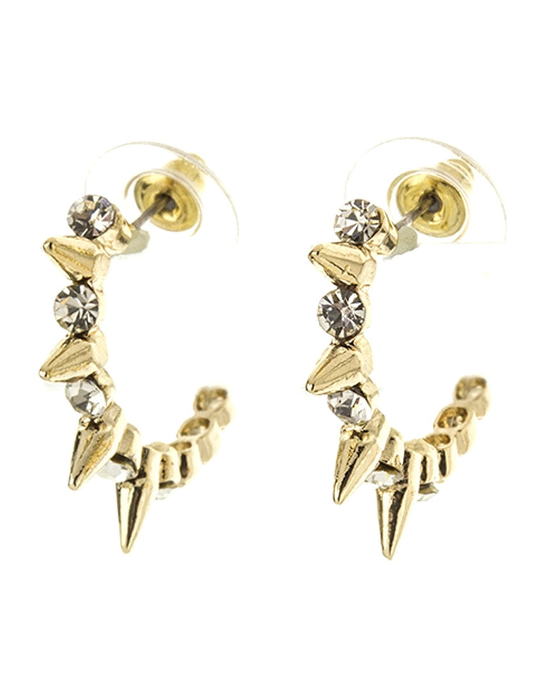 Liza Spike Hoop Earrings