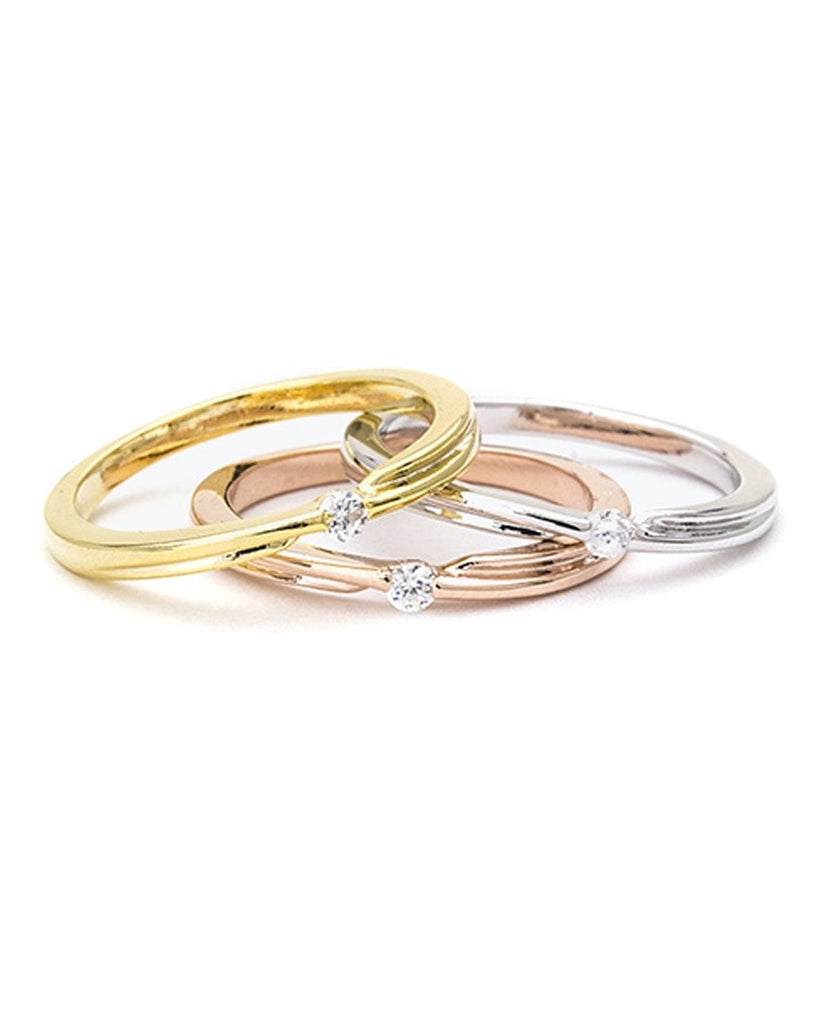 Trio Crystal Ring Set