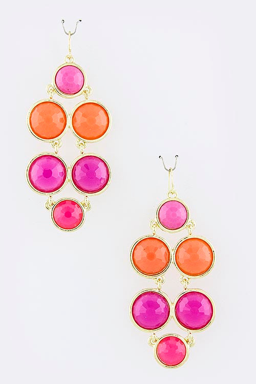Amelia Circle Drop Earrings