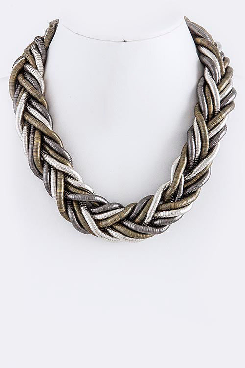 Maggie Braided Bib Necklace