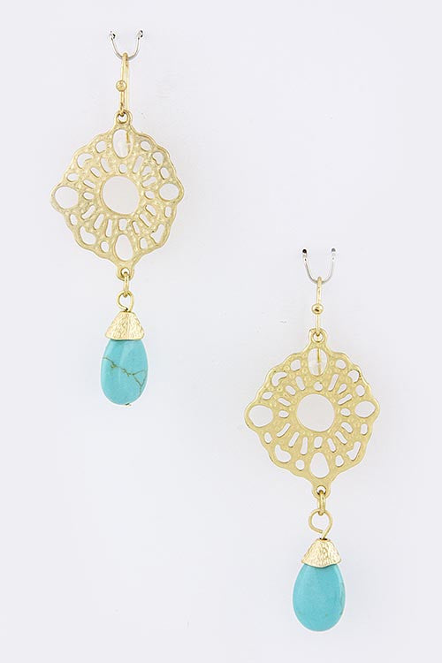 Lillian Turquoise Drop Earrings