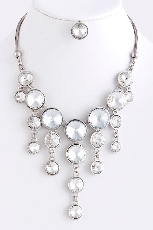 Demi Crystal Droplet Statement Necklace