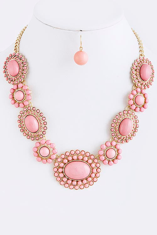Heather Oval Statement Necklace