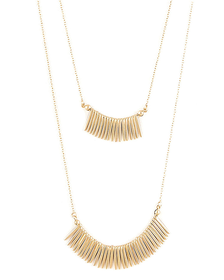 Jax Layered Fringe Necklace