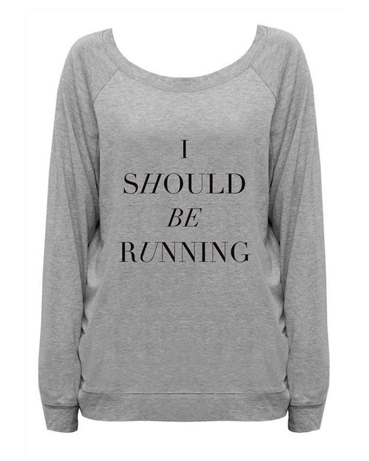 I Should Be Running Long Sleeve Tee