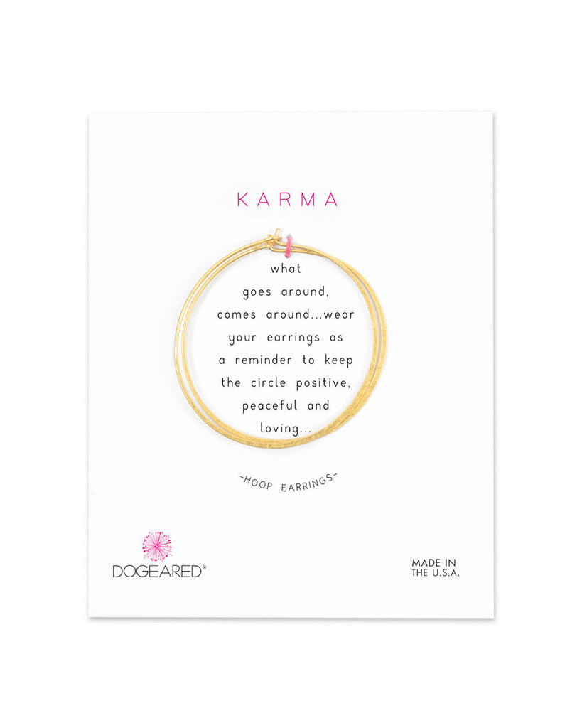 Karma Medium Hoop Earrings