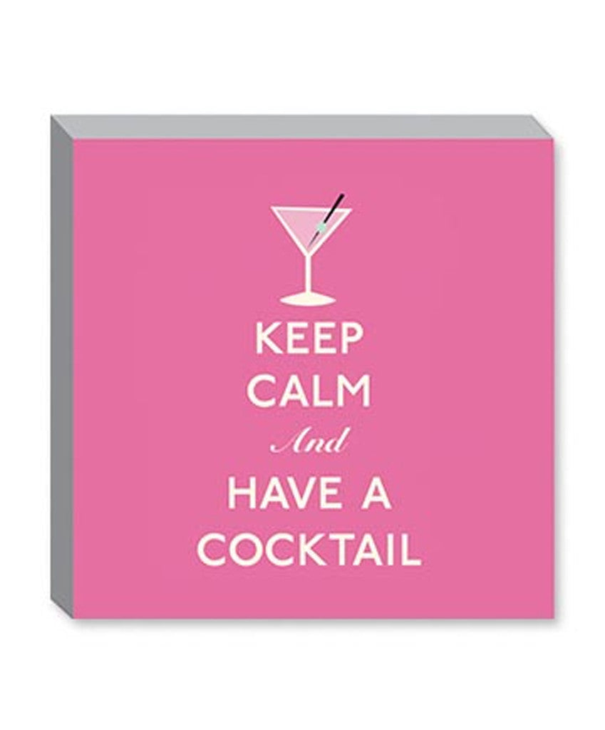 Keep Calm and Have a Cocktail Canvas Print