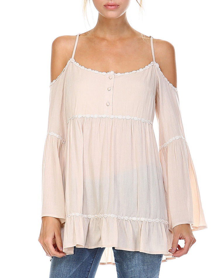 Open Shoulder Babydoll Top