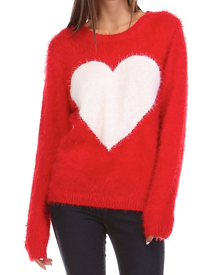 Heart Eyelash Sweater
