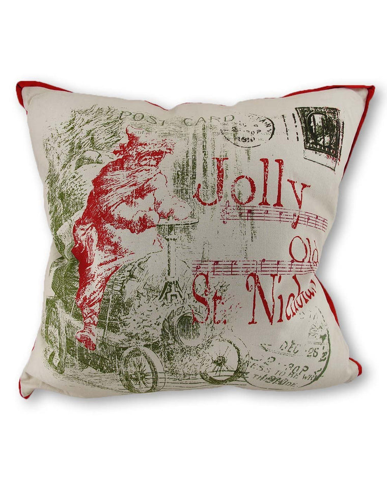 Jolly Old St. Nicholas Throw Pillow