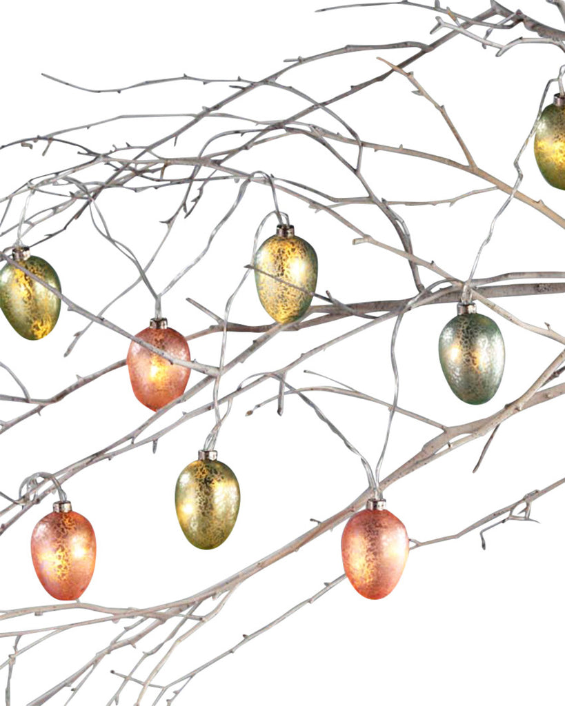 Lighted LED Glass Egg Garland
