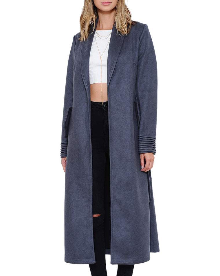 Charcoal Gray Longline Slouch Coat