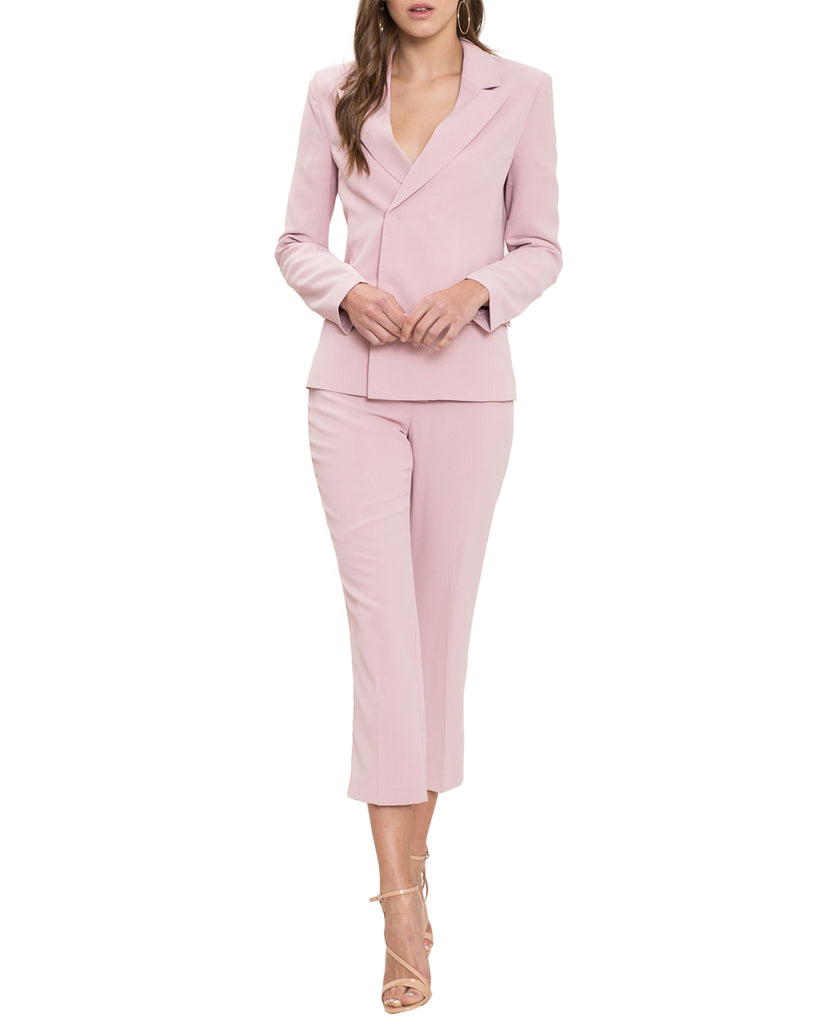 Pastel Two-Piece Capri Suit