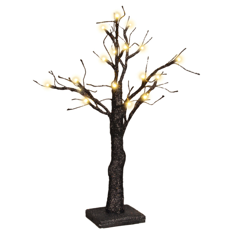 Lighted Black Glitter Tree
