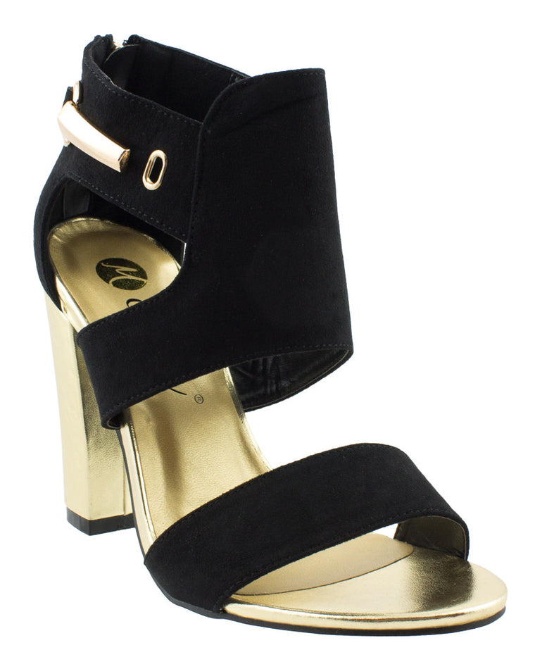 Downtown Girl Gold High Heel Sandals