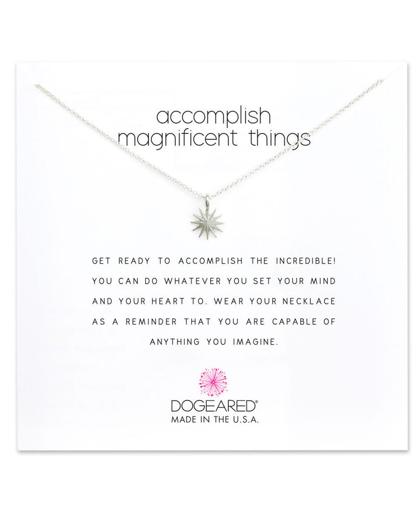 Accomplish Magnificent Things Starburst Necklace