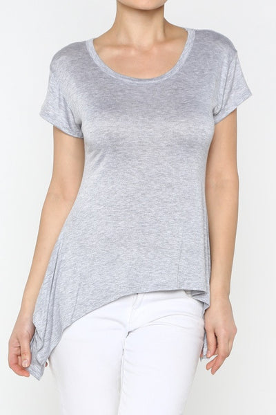 Heather Gray High-Low Top