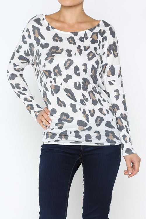 Leopard Loose Knit Top