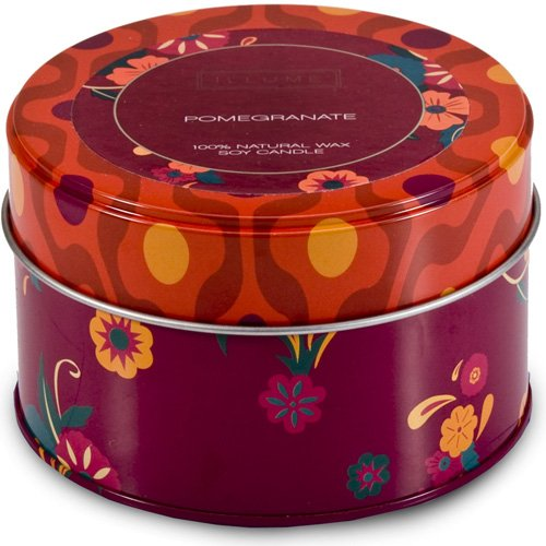 Pomegranate Retro Tin Candle