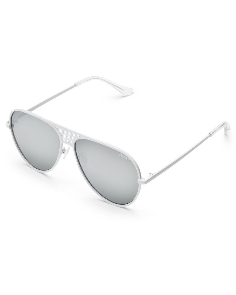 #QUAYxKYLIE Iconic Mirrored Aviator Sunglasses