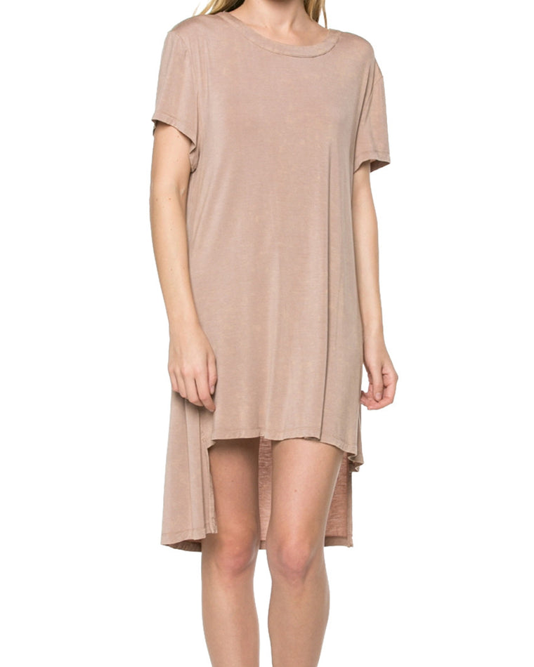 High-Low Hem T-Shirt Dress