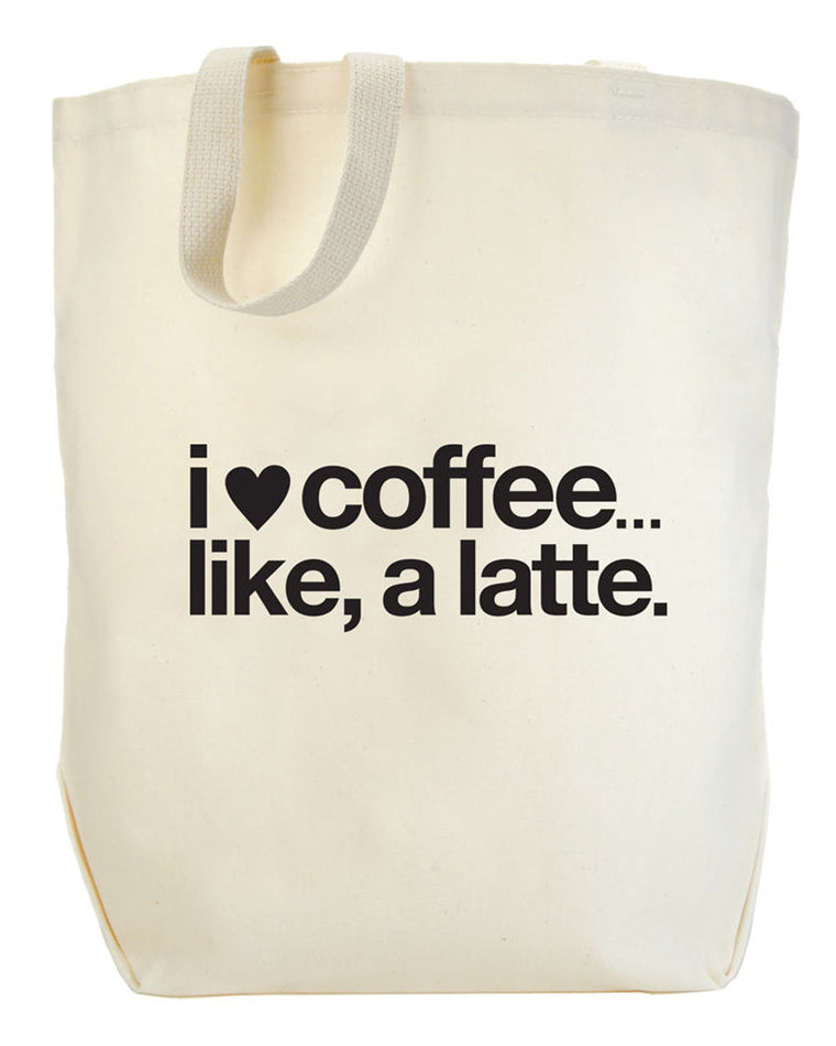 I Heart Coffee Like A Latte Big Tote
