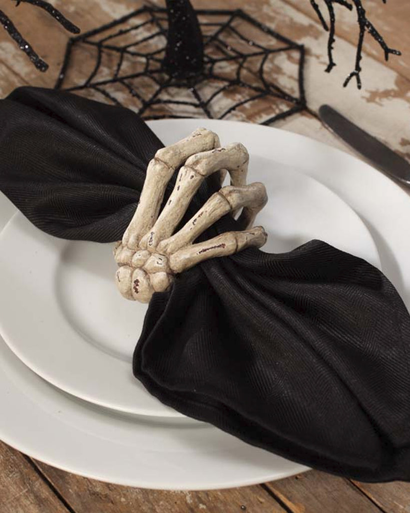 Skeleton Hand Napkin Rings (Set of 2)