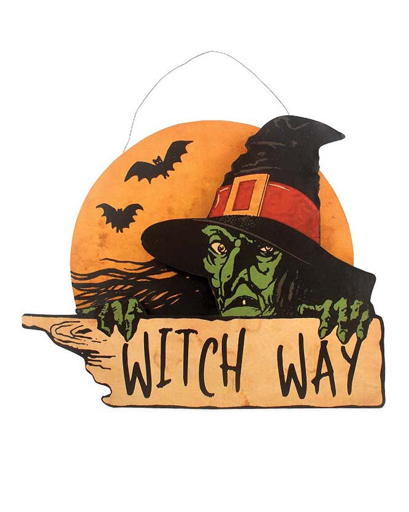 Witch Way Tin Sign
