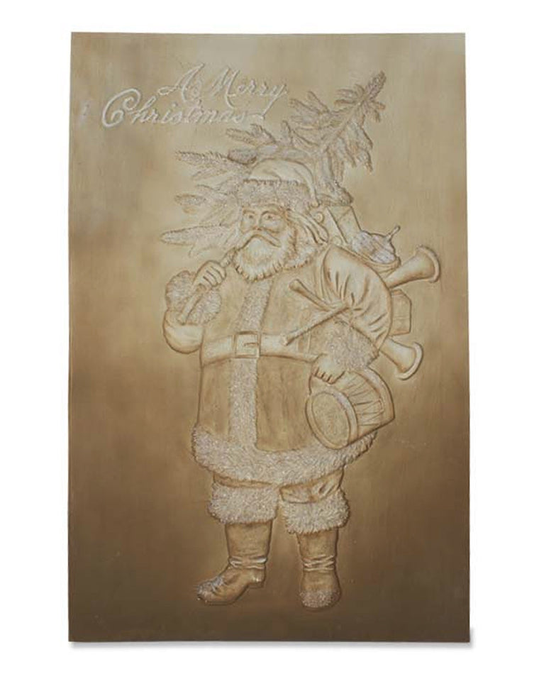 Embossed Santa Wall Hanging Photo