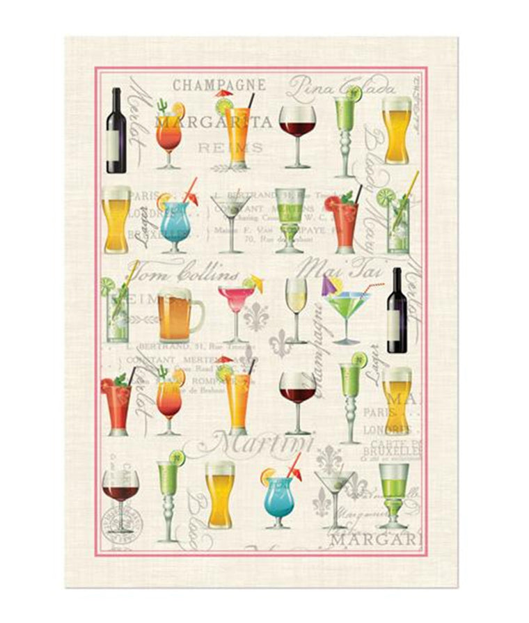 Cocktail Hour Kitchen Towel