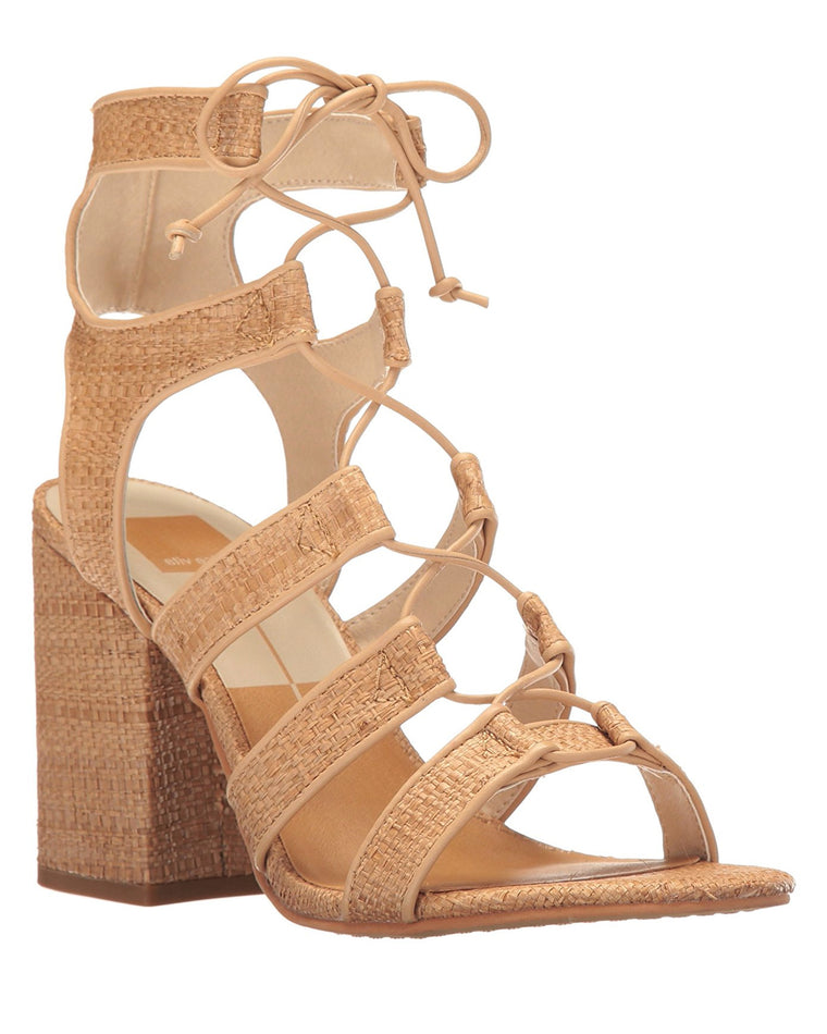 Eva Raffia High Heel Sandals