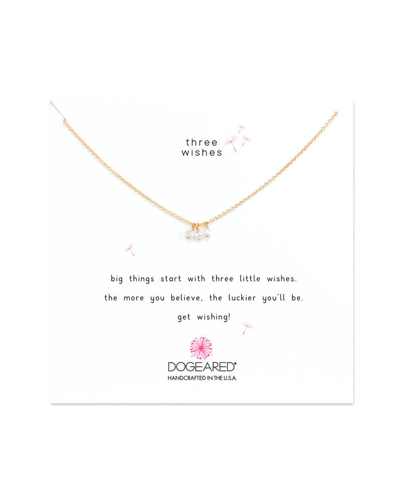 Three Wishes Triple Pearl Necklace